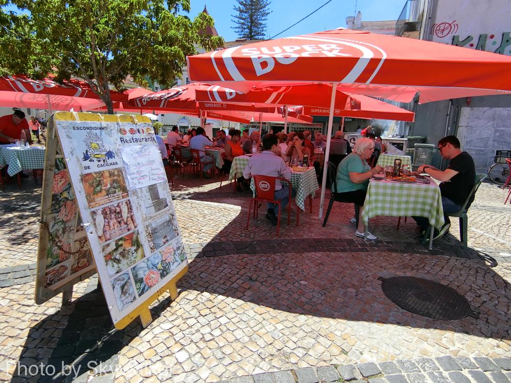 【海外】3度目のリスボンなのだ。:カシーリャスでは、河岸ーで食事