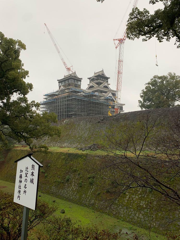 復興途上の熊本城